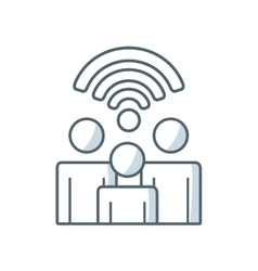 Wireless signal waves icon vector