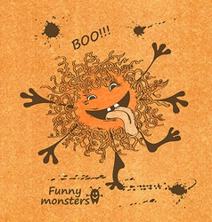 with funny monster vector image