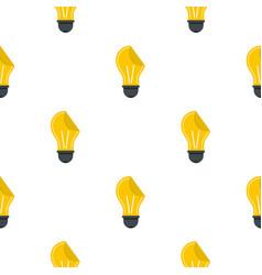 Yellow bulb sticker pattern flat vector