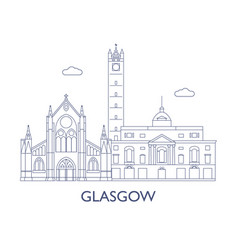 glasgow vector image