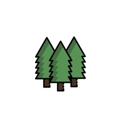 Hunting icon Forest vector image vector image