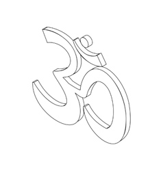 Om sign isometric 3d vector image