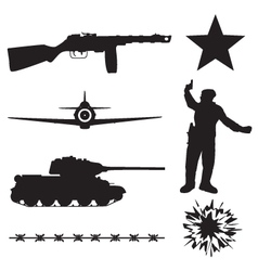 The Red Army in World War 2 vector image