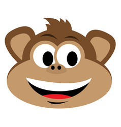 avatar of monkey vector image