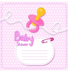 Baby shower Pink card template vector image