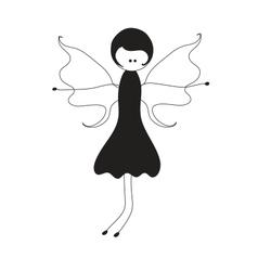 Beauty fairy vector image