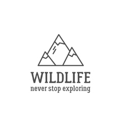 Camping logo design with typography and travel vector image
