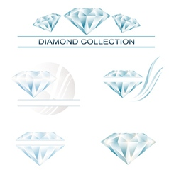 Diamond collection vector image vector image