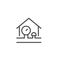 house engineering line icon vector image