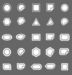 Label icons on gray background vector image vector image