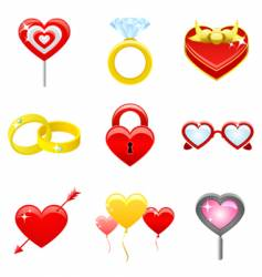 love concept icons vector image vector image