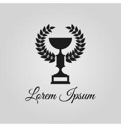 Trophy cup logo vector image