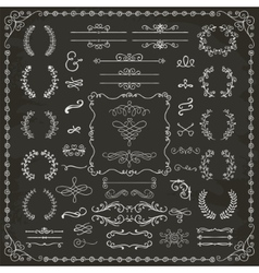 Vintage Hand Drawn Design Elements vector image vector image