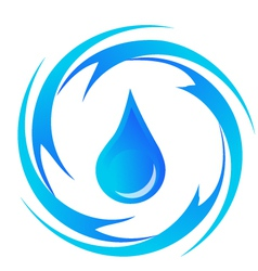 Water-drop vector image