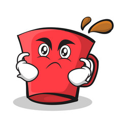 angry face red glass character cartoon vector image