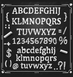 board with a set of sketch symbols vector image
