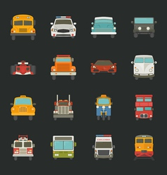 Car icons transport vector image
