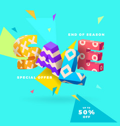 end of season sale sign vector image vector image