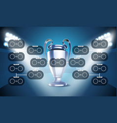 Football tournament scheme football infographic vector