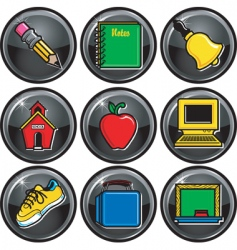 school icon buttons vector image vector image