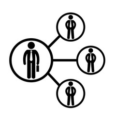 teamwork icon connection 96x96 pictogram vector image