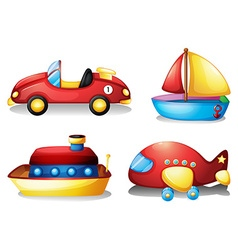 Toy set in red and yellow vector image vector image