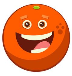 cartoon orange fruit character vector image vector image