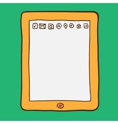 Digital tablet Doodle style vector image
