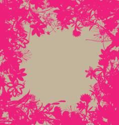 floral burst vector image