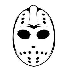 hockey mask icon icon cartoon vector image