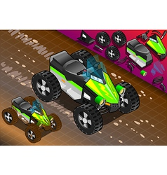 Isometric Quad Bike in Front View vector image