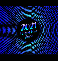 2021 happy new year blue glitter pattern vector image