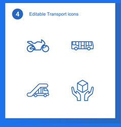 4 transport icons vector