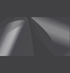 abstract modern metallic silver wave mesh vector image