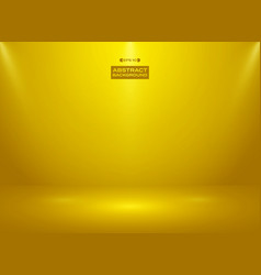 abstract of gold color color in studio room vector image