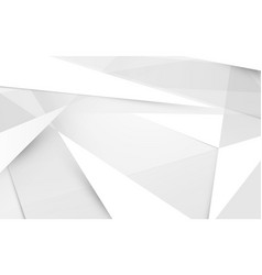 abstract white and gray polygonal 3d shapes vector image