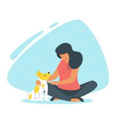 Adopt a dog concept vector