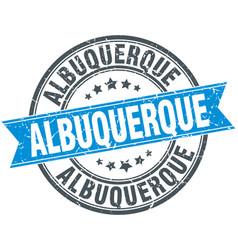 Albuquerque blue round grunge vintage ribbon stamp vector