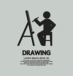 Artist Drawing Picture Symbol vector image