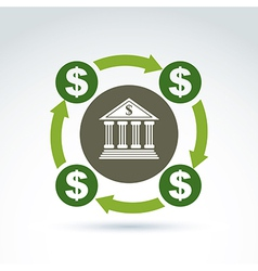 banking symbol financial system icon Circulation vector image