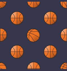 basket balls seamless pattern vector image