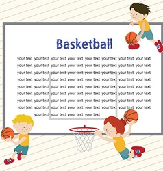 Basketballtemplete 01 vector