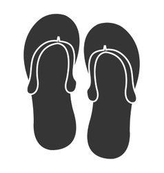 black and white sandals graphic vector image