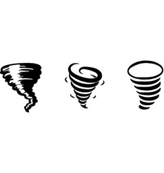 Black tornado isolated on a white background vector