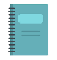 blue closed spiral notebook icon isolated vector image vector image