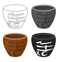 Bowl icon in cartoon style isolated on white vector