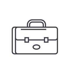 Business case portfolio line icon sign vector
