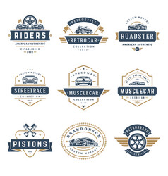 car logos templates design elements set vector image