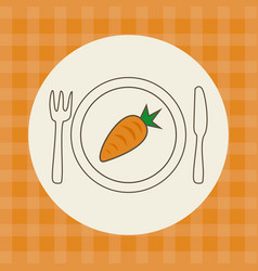 Carrot vegetable icon vector