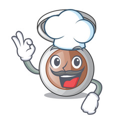 Chef powder makeup isolated in the mascot vector